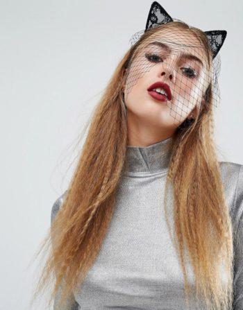 Orelia Halloween Lace Cat Ears Headband