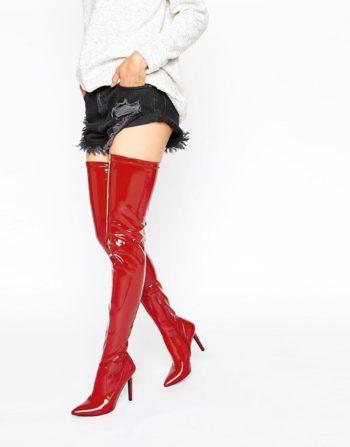 Public Desire Halloween Red Heeled Thigh High