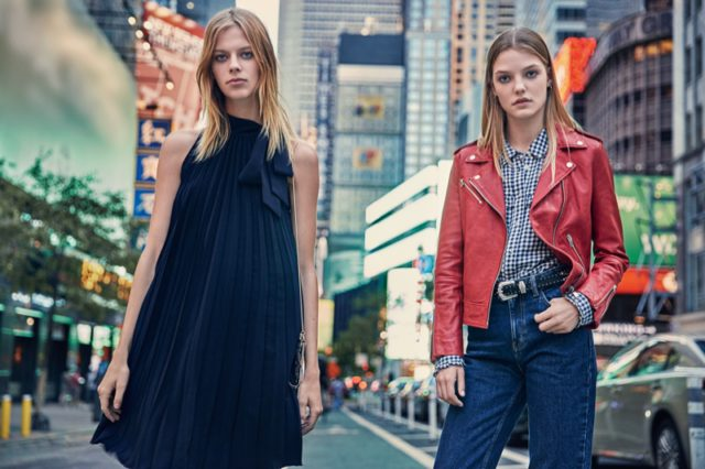 Times Square serves as the backdrop to Mango's fall 2016 campaign
