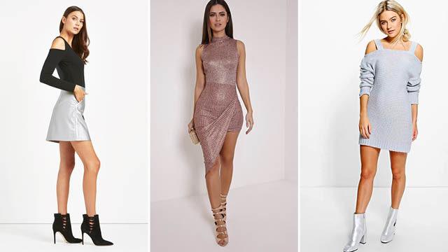 Kim Kardashian Metallic Dress
