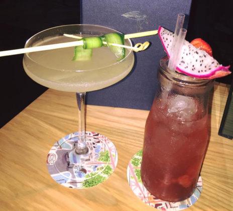 Cocktails at bluebird