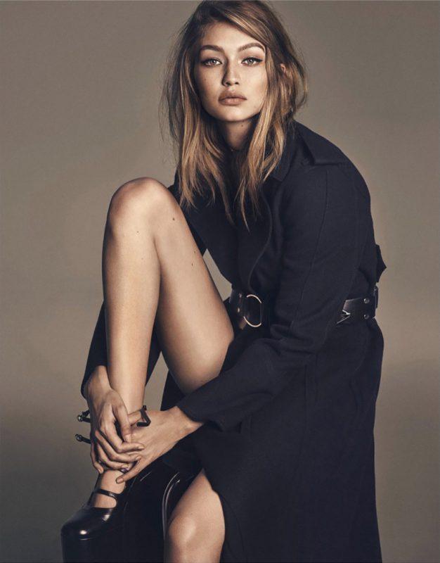 flaunting-some-leg-gigi-hadid-models-black-trench-coat