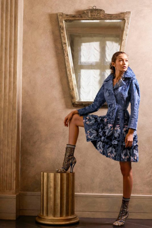 Gigi Hadid models a look from Fendi's Haute Couture collection