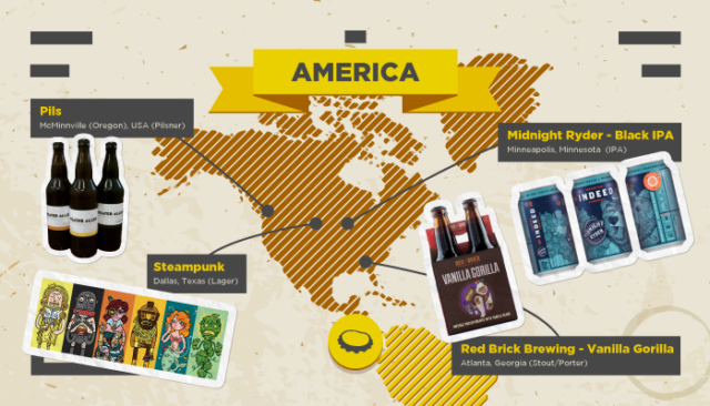local craft beers map America