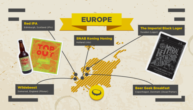 local craft beers map europe