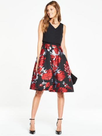 V by Very 2 in 1 Jaquard Prom Dress