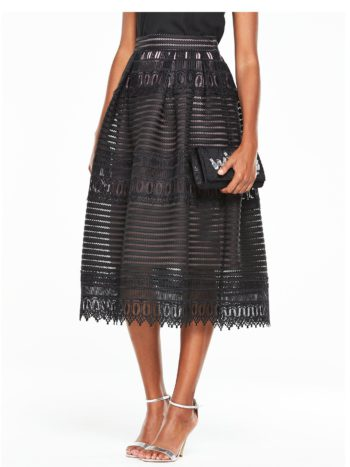V by Very Full Lace Skirt - Black