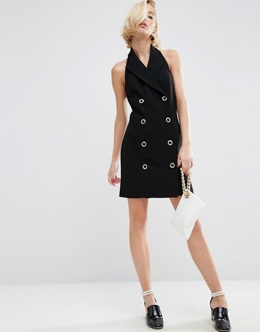 WAH LONDON x ASOS Halter Neck Blazer Dress