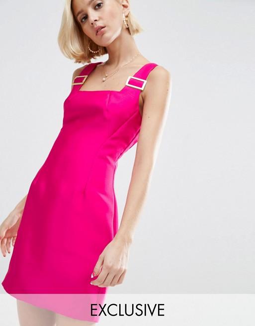 WAH LONDON x ASOS Square Neck Mini Dress