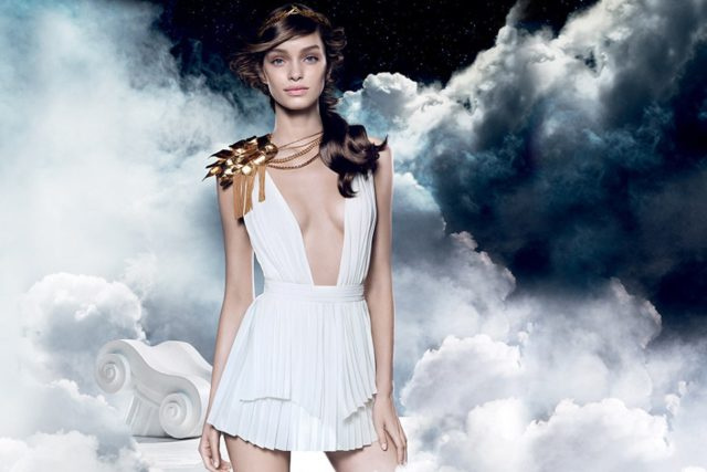 Luma Grothe looks like a goddess in the new Paco Rabanne campaign