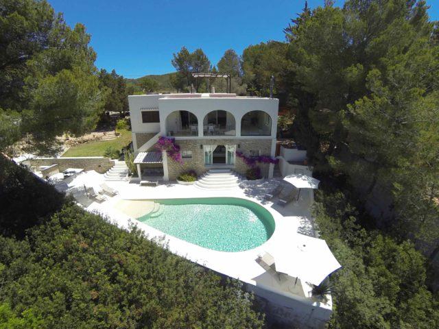 Villa BeeGee ariel view
