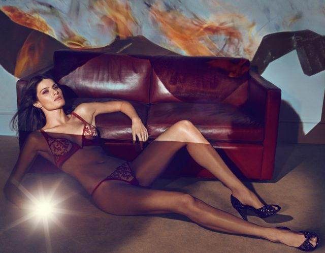 Isabeli Fontana wears La Perla Autografo triangle bra and thong