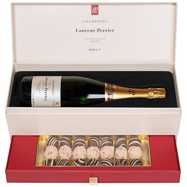 Laurent-Perrier Brut Champagne and Montezuma Truffle Set