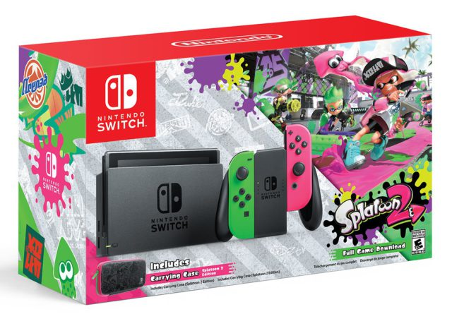 Limited Edition Nintendo Switch Neon and Splatoon 2