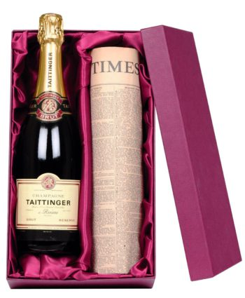 Taittinger Champagne & Personalised Newspaper