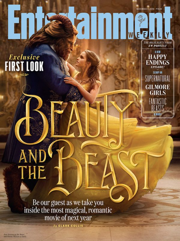 The Beast and Belle share a dance on the cover of Entertainment Weekly