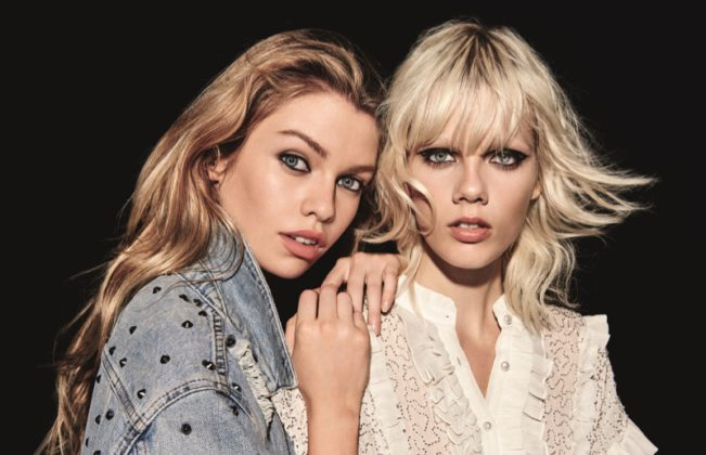 Stella Maxwell and Marjan Jonkman pose in Topshop's holiday 2016 campaign