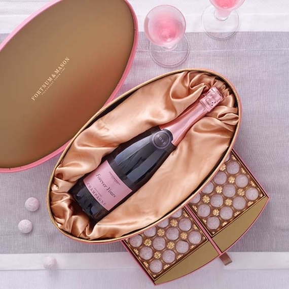 fortnum and mason personalised Rosé Champagne & Chocolates Box