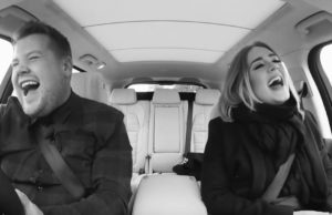 Adele with James Corden in Carpool Karaoke