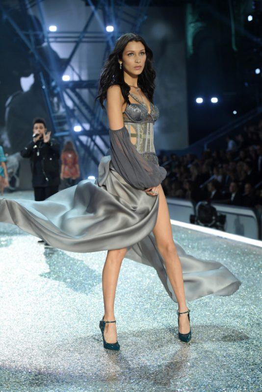 Bella Hadid walks the 2016 Victoria's Secret Fashion Show
