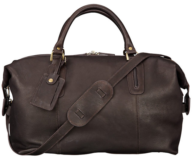 John Lewis Oxford Leather Explorer Holdall