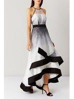 Alicia Mono Spot Maxi Dress