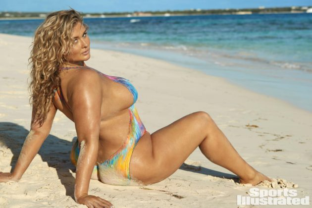 Hunter McGrady sexy body paint shoot for SI swimsuit