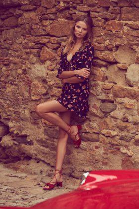 Magdalena Frackowiak wears Cherry sundress from For Love & Lemons