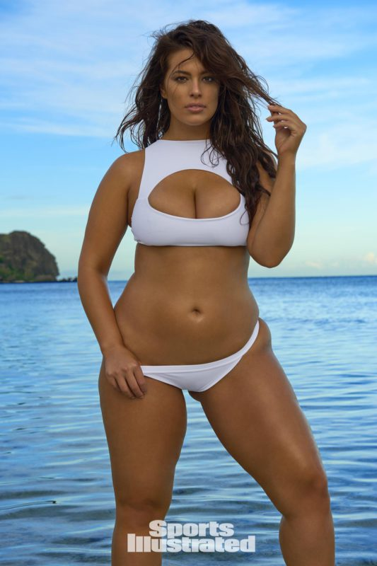 Plus size supermodel Ashley Graham for SI swimsuit 2017