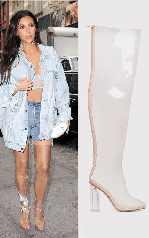 Raquela Clear Perspex Thigh High Boots