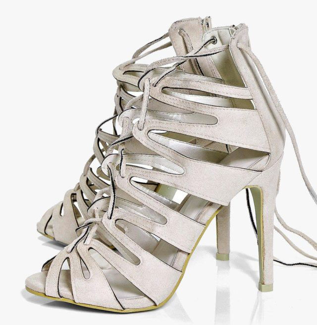 Tia Cage Lace Up Heels