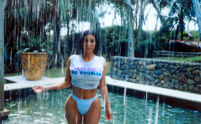 kim kardashian wet t-shirt and high waist panties 5