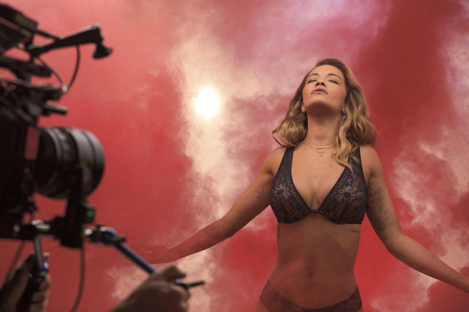 Rita Ora smoulders in Tezenis Lingerie shoot rocking the ...
