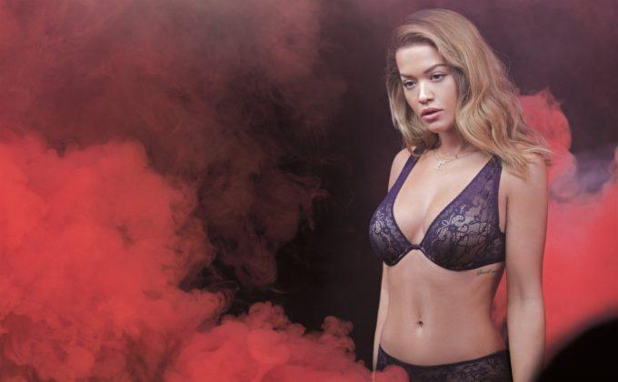 Rita Ora Tezenis Lingerie shoot