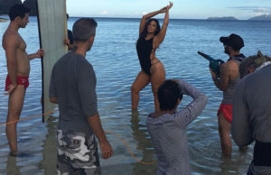 ashley Graham - Behind the scenes of Swimsuit Illustrated