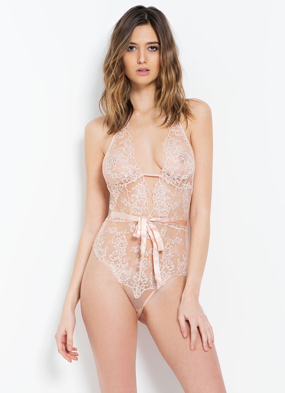 ANGELICA PLAYSUIT NUDE AND IVORY