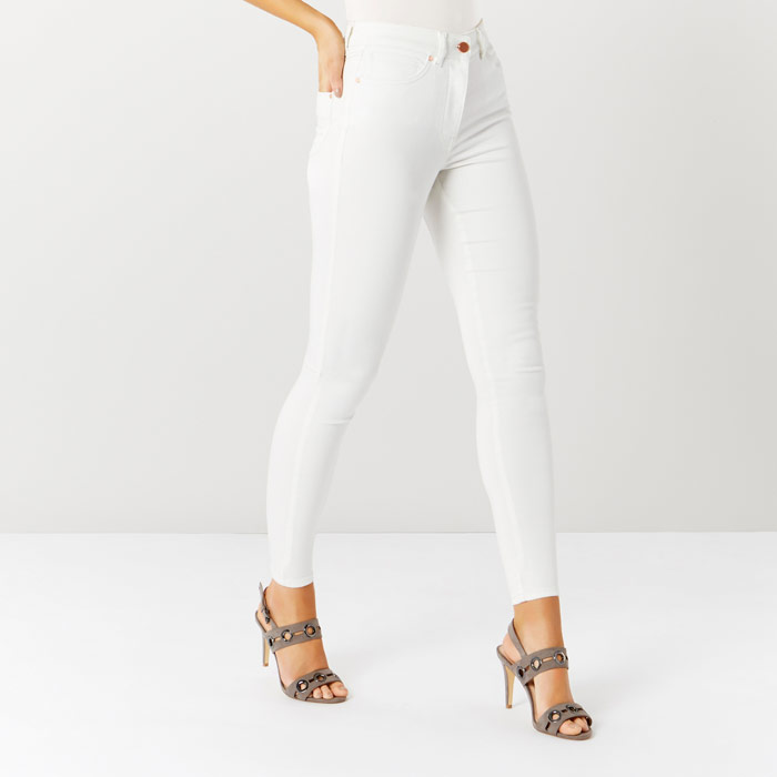 Amour White Jean