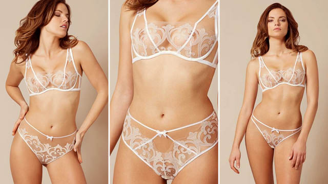 Haylie Bra White And Peach