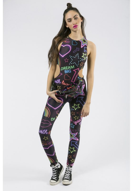 Jaded LDN NEON SIGN PRINT CUT OUT CATSUIT