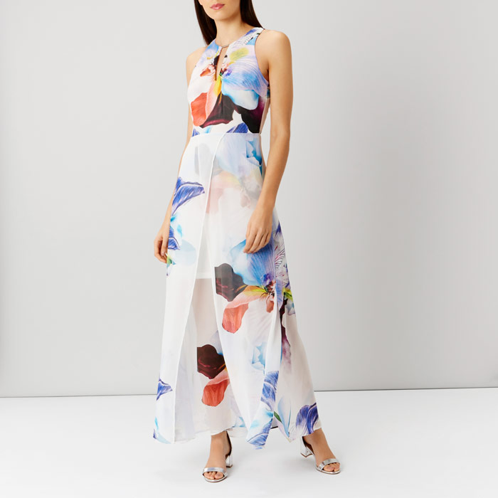 Roca Floral Split Maxi Dress