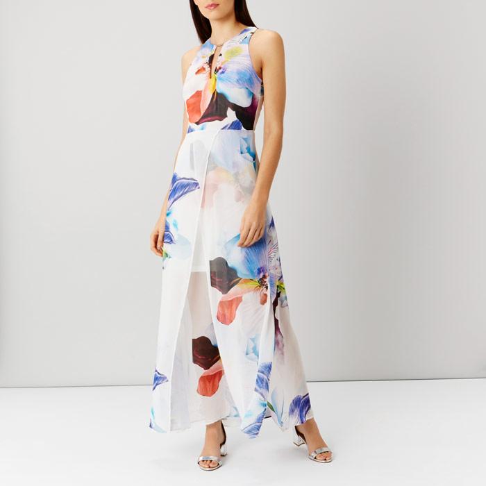 Roca Floral Split Maxi Dress