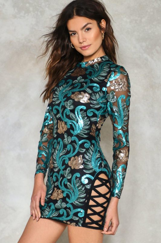 Bright of Way Sequin Dress
