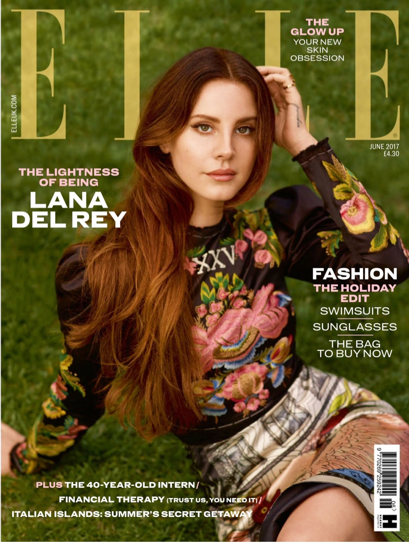 Lana Del Rey on ELLE UK June 2017 Cover