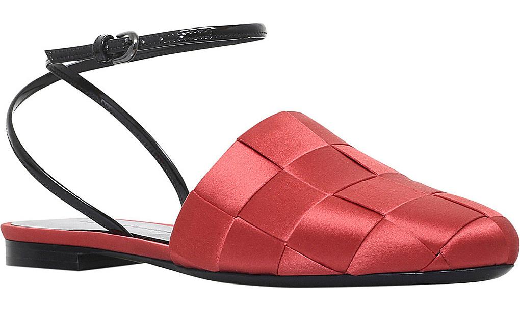 b05f9309062420 MARCO DE VINCENZO Basket weave satin slides large