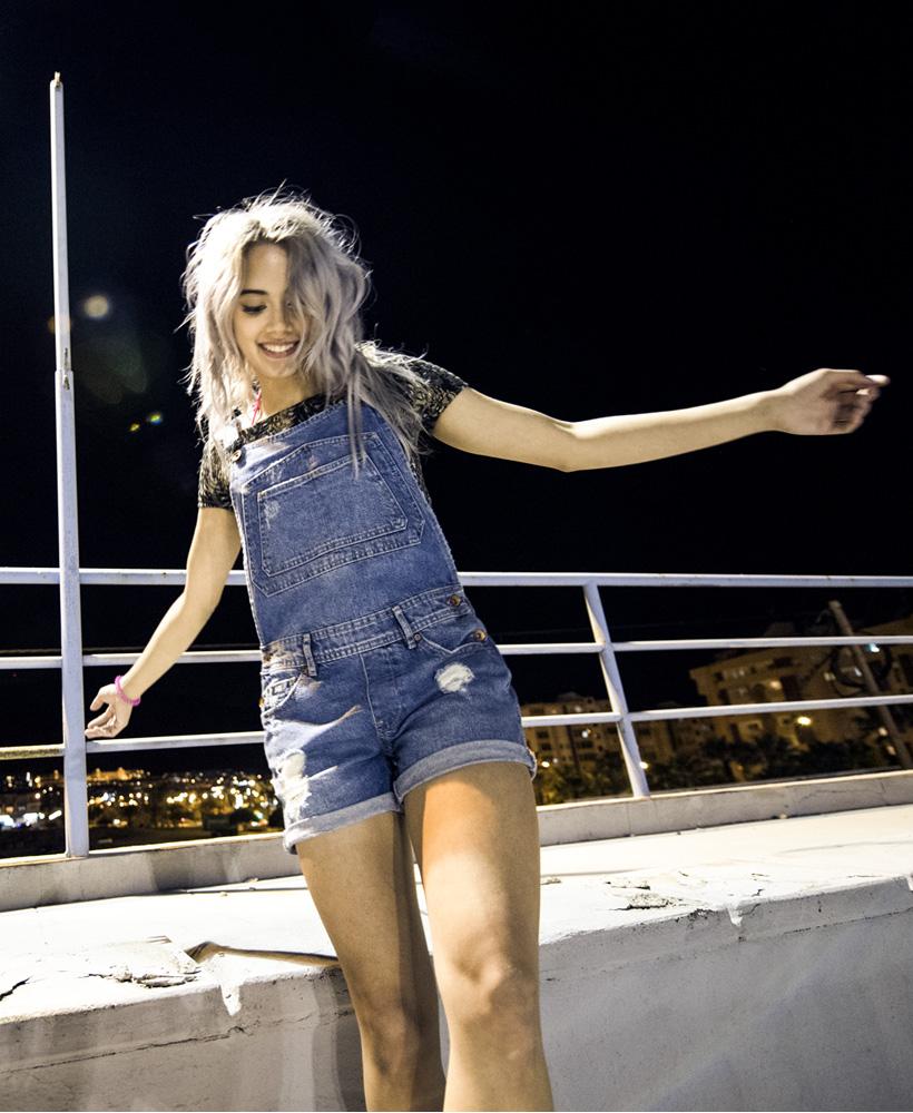 superdry summer Naomi Short Dungrees