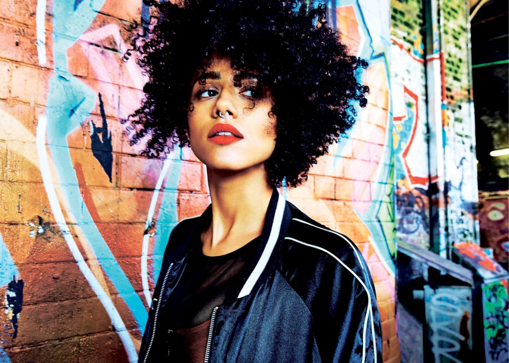 nathalie emmanuel goes urban chic for fabulous magazine - flavourmag