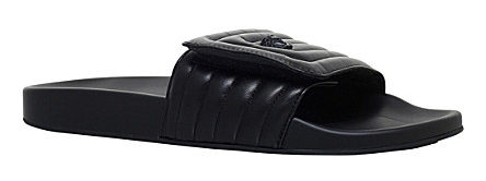 VERSACE Labyrinth quilted leather slide sandals