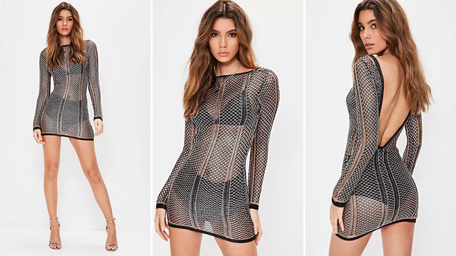 whether you're pool side in ibiza or dancing the night away at a festival, this dress will have you snaring the spotlight! we're lusting over it's metallic black and rose gold hue, mini length and plunging back. all eyes will be on you!