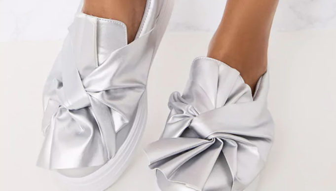 womens silver trainers