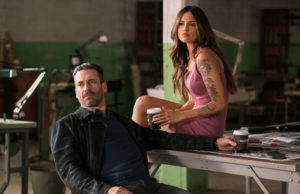 Baby Driver - Meet Buddy (Jon Hamm) and Darling (Eiza Gonzalez)